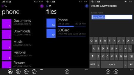 Windows Phone 8.1 tendrá su propio gestor de archivos