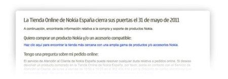 Nokia cierra su tienda online en España