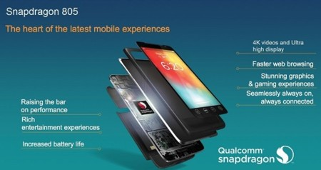 Qualcomm Snapdragon 805 llega a manos de desarrolladores a finales de mes