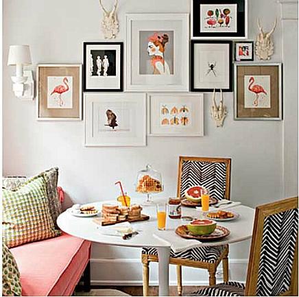 Tres ideas para agrupar los cuadros en tu casa