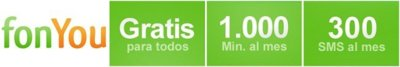 FonYou elimina su cuota mensual y mejora condiciones incluyendo más minutos y SMS