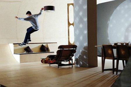 Puertas abiertas: una casa para amantes del skateboard