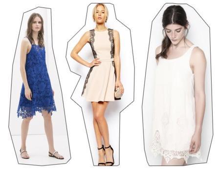 Vestidos de encaje tendencias low-cost Primavera-Verano 2014