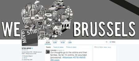 Twitter del servicio público de transporte de Bruselas