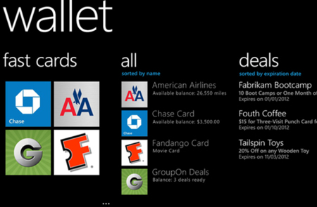 Windows Phone 8 WALLET