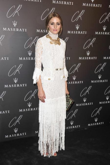 Olivia Palermo Alessandra Rich Flecos Vestido