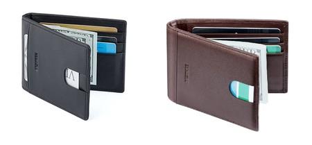 talla 40 9ea3f 9d0f4 Cartera billetera de cuero con sistema Rfid antirrobo barata ...