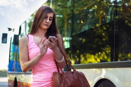 Woman Smartphone Girl Bus