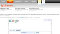 igThemer, el primer editor de temas basado en iGoogle Themes API