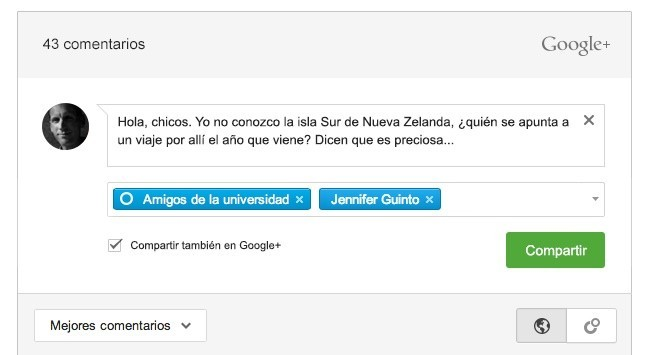 google+ plus comentarios google blogger