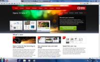 Opera con interfaz Aero y sin barra de títulos