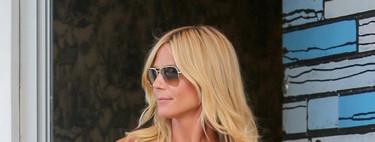 Heidi Klum luce el escote del verano: el bardot