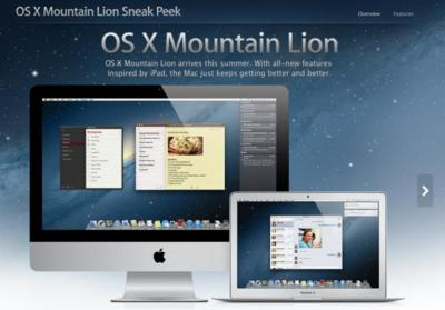 Apple presenta Mountain Lion, la nueva versión de Mac OS X