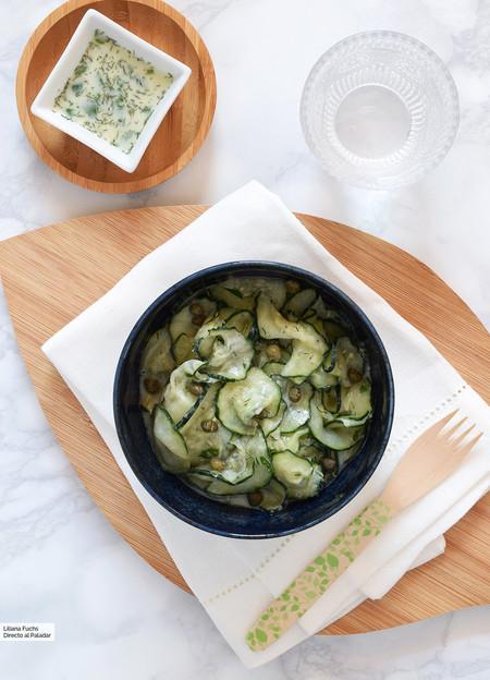 Ensalada cremosa de pepino: receta ligera y refrescante