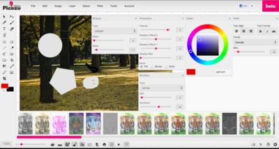 Picozu, un completo editor de imágenes online