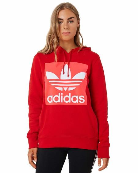 adidas Trefoil Hoodie Sweatshirt, Mujer