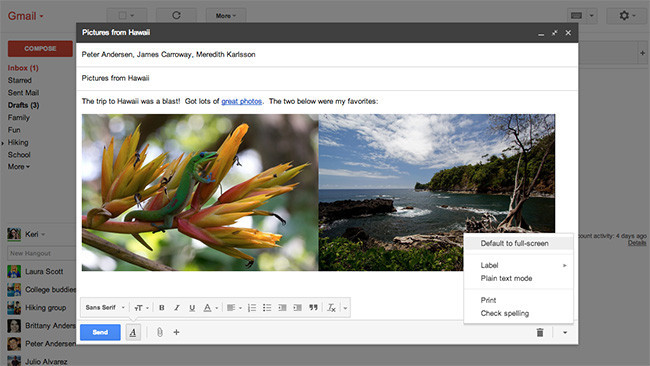 Gmail new compose