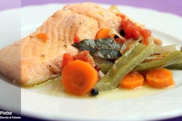 Receta de salmón en escabeche con verdura