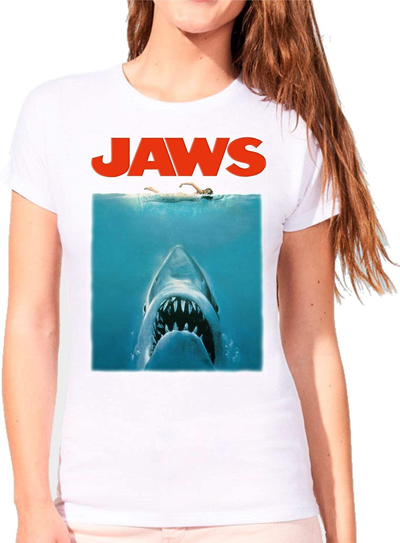 Camiseta de Mujer Varios Peliculas Divertidas Retro Tiburon Shark Jaws 017