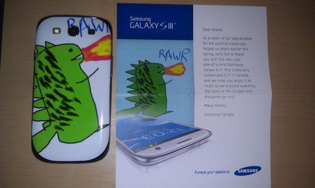 Samsung Galaxy SIII edición dinosaurio