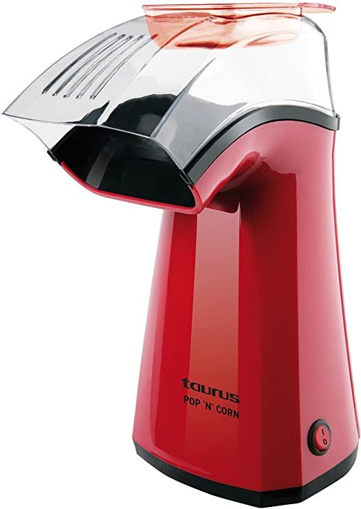 Taurus Pop'N'Corn Máquina para hacer palomitas, 1100 W, Plástico, Rojo [Clase de eficiencia energética A++]