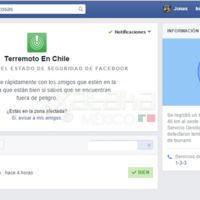 Facebook activa Safety Check en Latinoamérica tras el terremoto de Chile