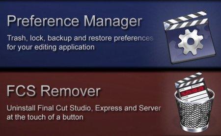 Preference Manager y FCS Remover ayuda para administrar las preferencias y desinstalar Final Cut Pro X