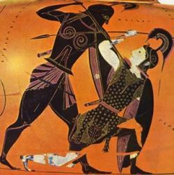 Pentesilea y Aquiles