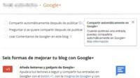 Los posts de Blogger ya se pueden compartir automáticamente en Google+