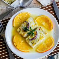 Pescado en salsa de naranja. Receta para Semana Santa