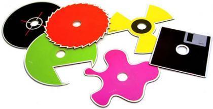 Discos ópticos en multitud de formas (y colores)