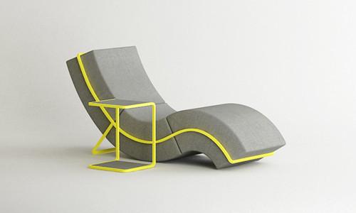 Foto de Set de descanso, sofá, mesa y escabel (1/4)