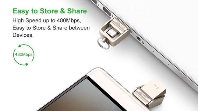 f70bf410848 Las memorias USB siguen siendo muy prácticas, y los cables OTG para móviles  siempre van a salvarnos en alguna emergencia, el producto de Ugreen intenta  ...