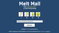 Melt Mail, direcciones de correo electrónico desechables de hasta 24 horas