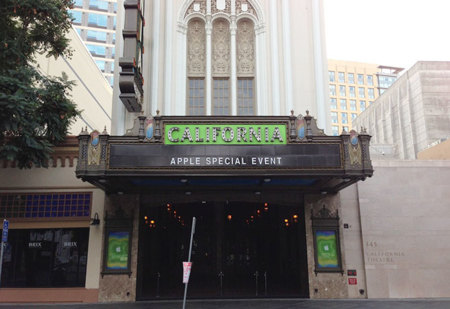 Evento de Apple en el California Theatre en San José