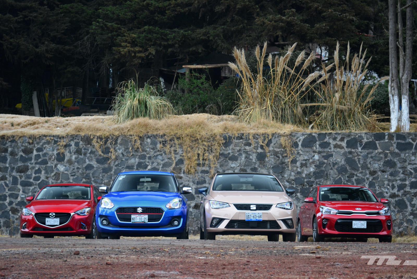 Foto de SEAT Ibiza vs. Suzuki Swift vs. KIA Rio vs. Mazda2 (comparativa) (3/20)