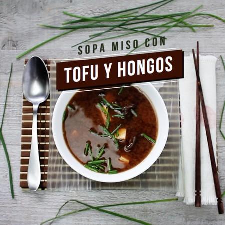 Sopa Miso con Tofu y hongos. Receta en video