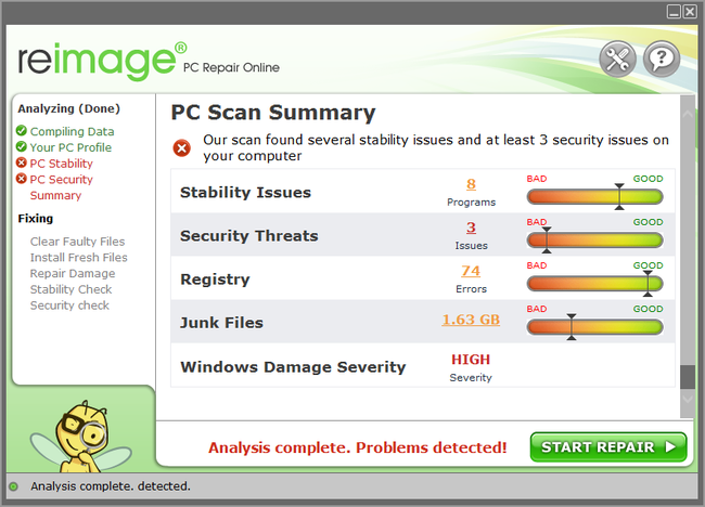 Reimage Pc Scan Summary