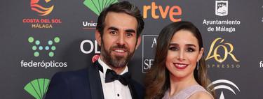 Candela Serrat presume de su primer embarazo en los Goya 2020 con un perfecto look de invitada premamá