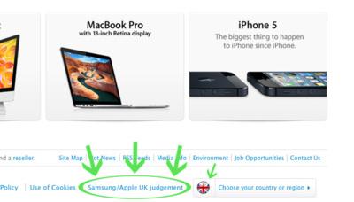 Apple ya aclara en su web de Reino Unido que Samsung no copió el diseño del iPad
