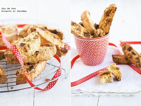 Biscotti de higos y almendras. Receta de Navidad