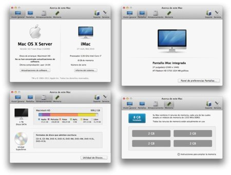 Mac OS X 10.7 Lion Beta Información del sistema