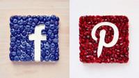 Espectaculares tostadas con los logos de las RRSS hechos en fruta