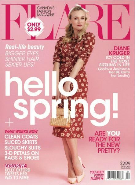 Diane Kruger dice que la primavera ya está aquí... no sé yo