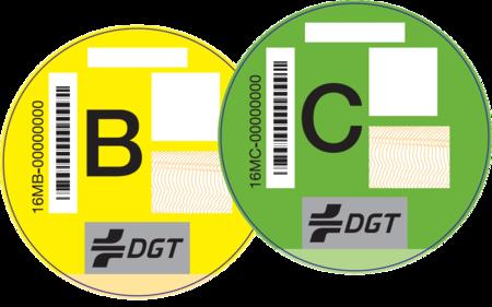 DGT Etiquetas B Y C