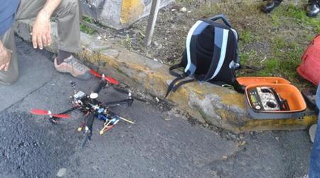 Drone utilizado por la policia de la ciudad de México