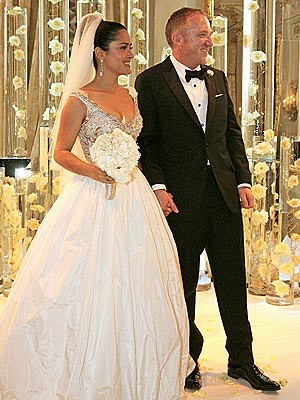 El vestido de novia de Salma Hayek