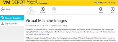 VM Depot, repositorio de máquinas virtuales de Microsoft Open Technologies