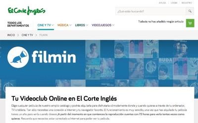 Filmin se integra en la página web de El Corte Inglés
