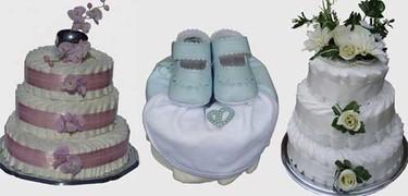 Originales tartas de pañales para regalar a un recién nacido
